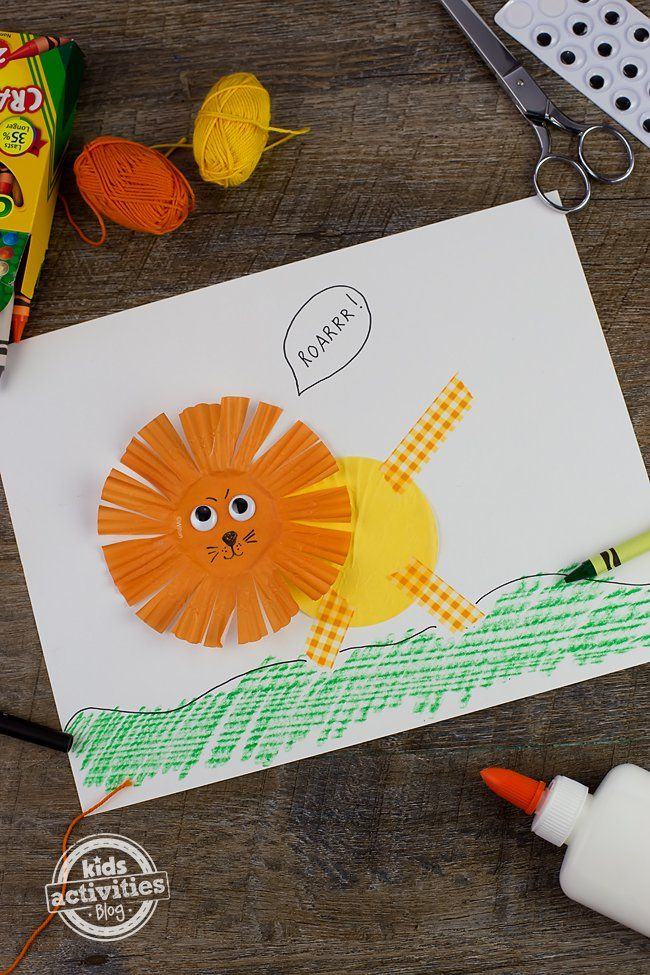 Cupcake Liner Lion Craft