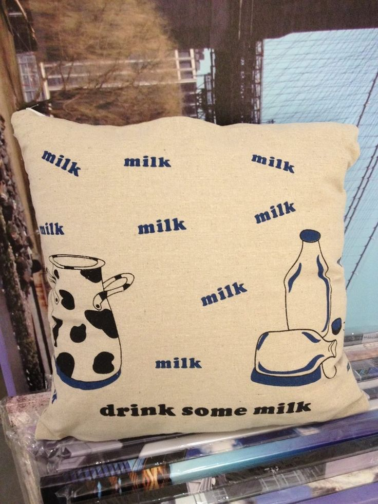 Milk on a cushion is cooler than just in the bottle :D