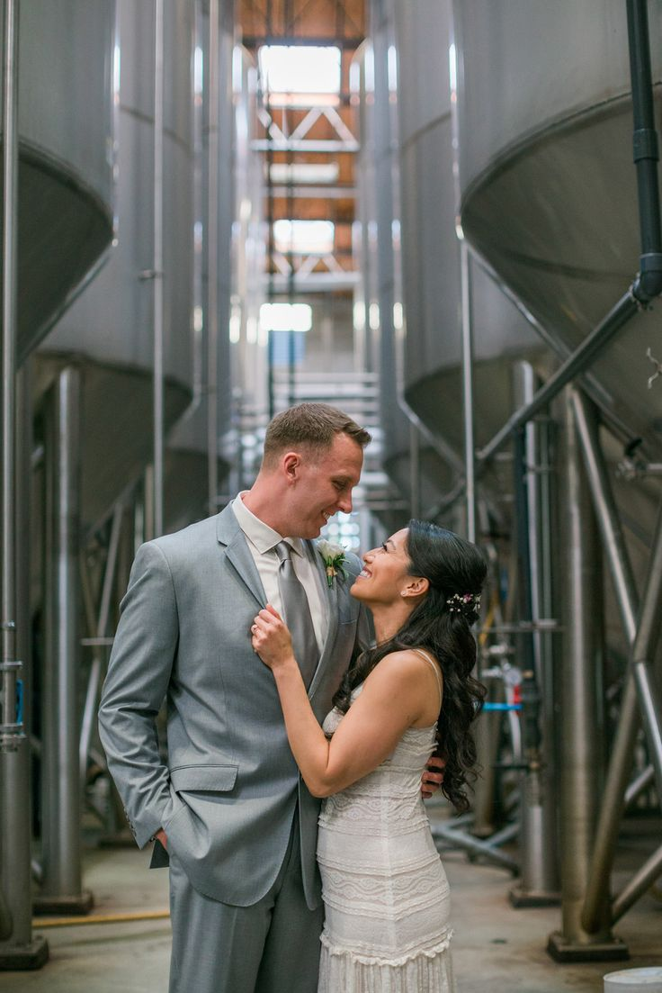 Cerisa and Max's small and simply lovely wedding at the Stone Brewery in Escondido, California. Photos by Studio Sequoia. #brewerywedding #elopement #Stonebrewingworldbistroandgardens #dayoflove