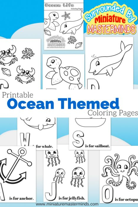 #Free Printable Ocean Themed Coloring Pages