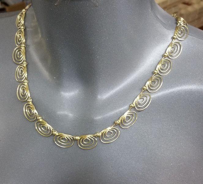Vintage Halsschmuck - Halskette Gold 333 Goldschmiedearbeit Unikat GK105 - ein…