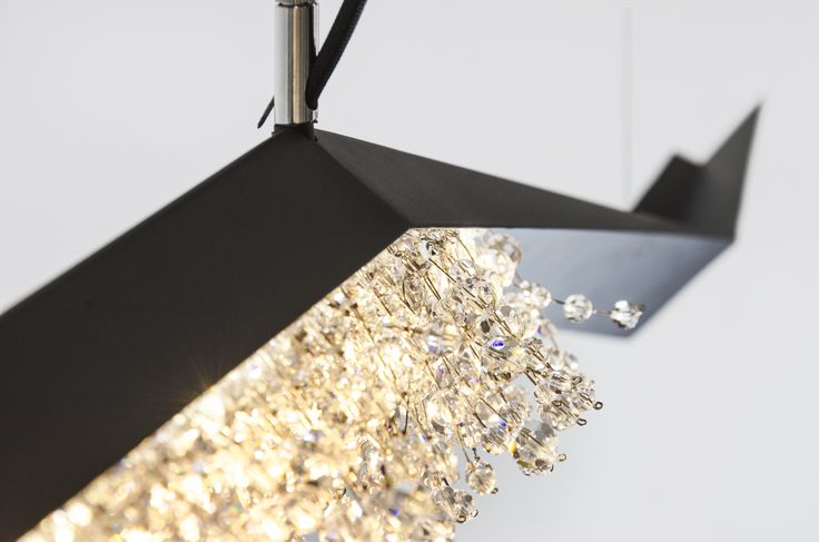 As a dynamic and magnificent piece of architecture, Wissh is an unforgettable experience with hundreds of sparkling Swarovski crystals.  #crystalchandelier #Swarovski #crystal #luxury #lighting #design #interior #design #home #decor #ambient #lamp #Manooi
