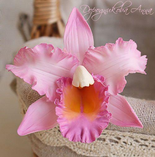 """Выкройка, шаблон для цветка из фоамирана """"Орхидея"""