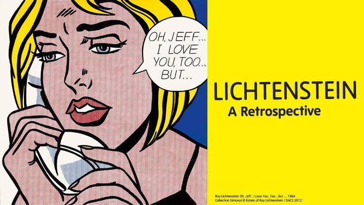 Lichtenstein exhbition banner, Tate Modern