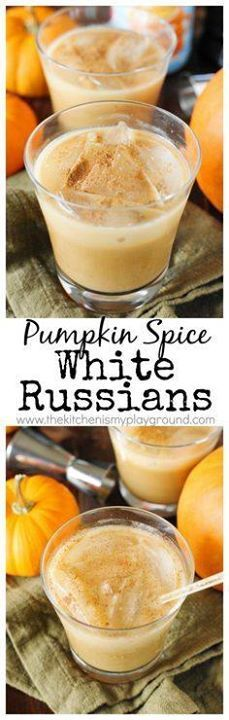 Pumpkin Spice White Pumpkin Spice White Russians - Add a...  Pumpkin Spice White Pumpkin Spice White Russians - Add a fabulous seasonal twist to your cocktail line-up  perfect for fall sipping. www.thekitchenism Recipe : http://ift.tt/1hGiZgA And @ItsNutella  http://ift.tt/2v8iUYWwww.thekitchenism Recipe : http://ift.tt/1hGiZgA And @ItsNutella  http://ift.tt/2v8iUYW