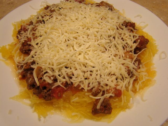 ... and waistline-friendly change: spaghetti squash instead of pasta