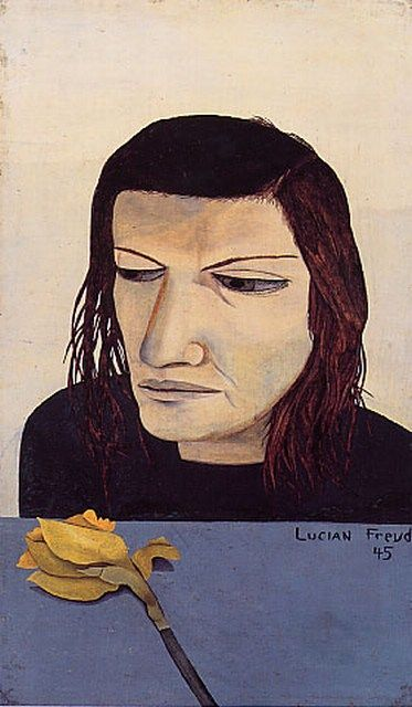 Lucian Freud: Woman with Daffodil, 1945.