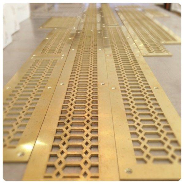 brass hexagon grille vent cover   Wilmette Hardware