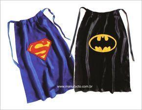 Capas De Super Heróis INFANTIL | Manufacto Soluções Criativas | Elo7