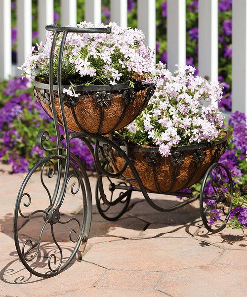 Take a look at the Two Tier Bicycle Planter