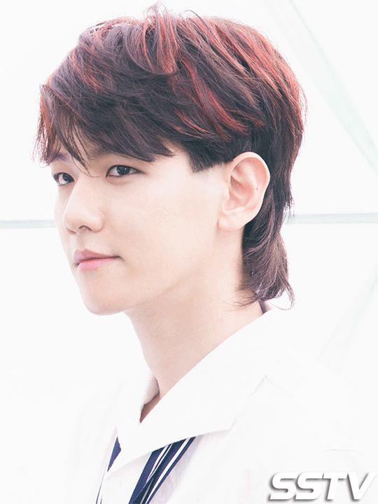 A mullet never looked so good to me #Baekhyun #plsnomulletsinthefuturethx