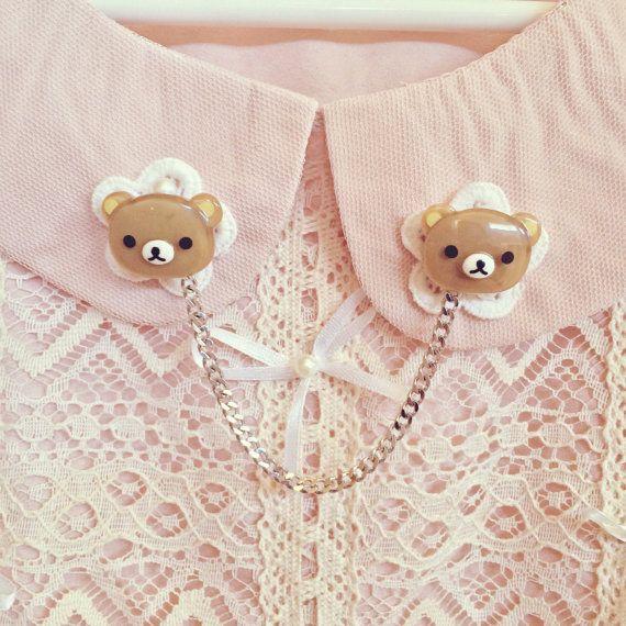 Cute Rilakkuma Collar Chain by SheLovesCuteStuff on Etsy