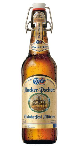 Hacker Pschorr, Oktoberfest Märzen. Bavarian beer