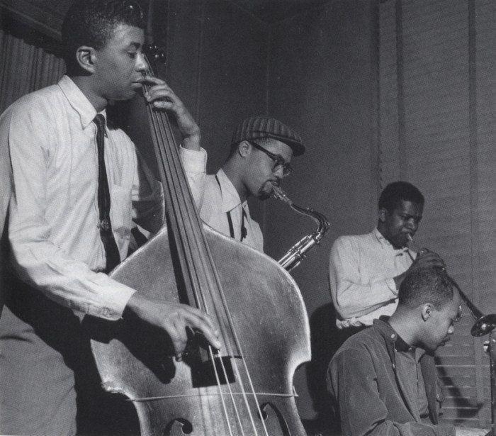 Paul Chambers, Clifford Jordan, Donald Byrd and Tommy Flanagan, May, 1957