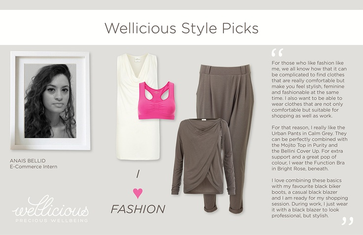 This week our E-Commerce intern Anaïs Bellid introduces her favourite Wellicious pieces - I ♥ Fashion.