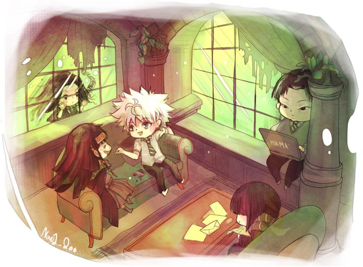 Hunter x Hunter - Illumi, Milluki, Killua, Alluka and Kalluto #Zoldyck_family #Harry_Potter