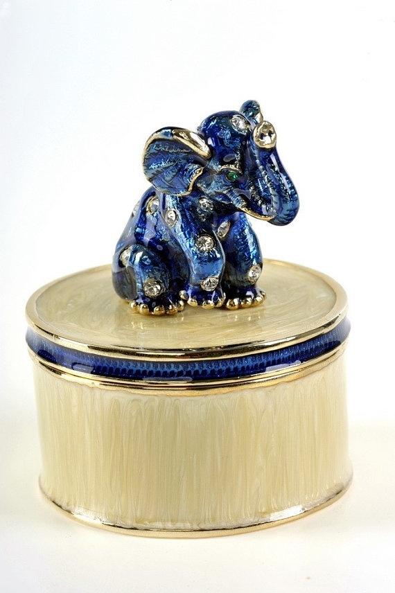 FABERGE ELEPHANT by shopgalilee on Etsy, $40.75
