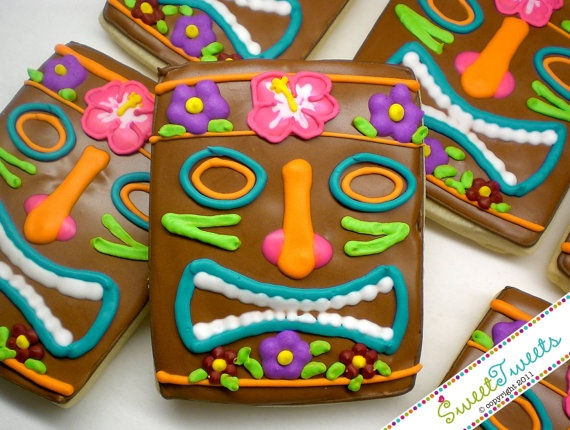 Tiki Cookies. I'll have to make this a month in advance with all the details but Bella would love them!
