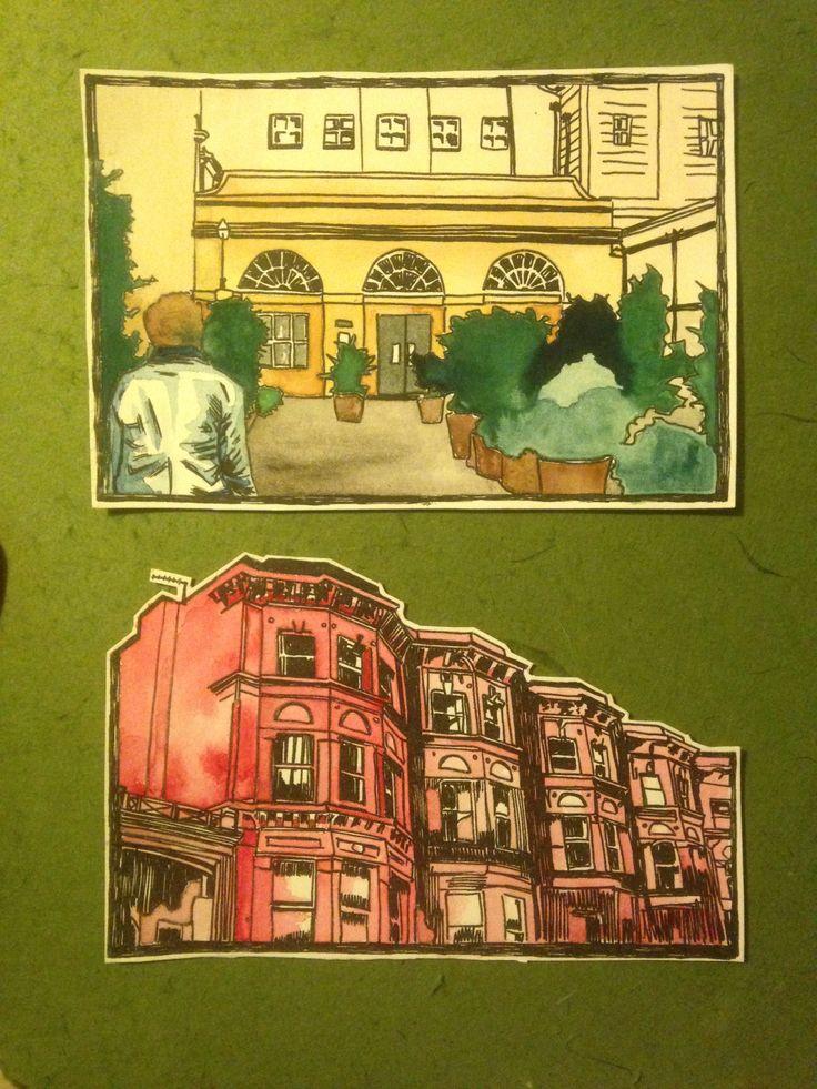 A2 ART/ILLUSTRATION - watercolour/illustrative studies of my own photographs