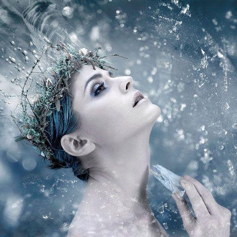 head wreath for Ice princess costume