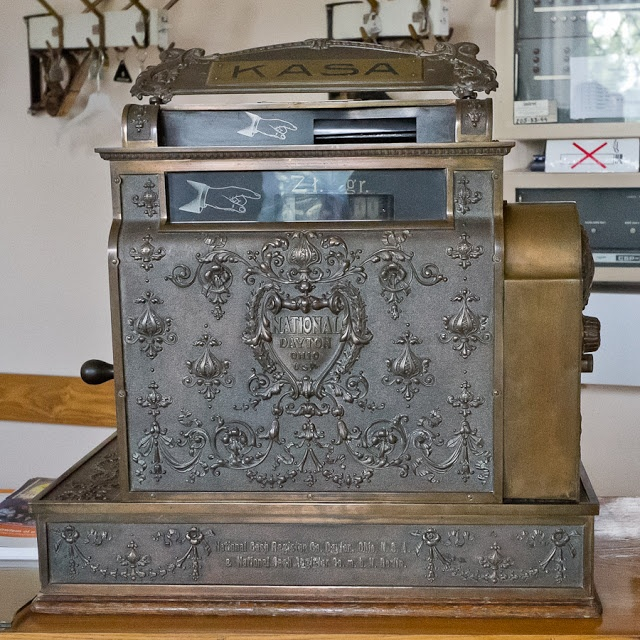 An old #cash #register (#National #Dayton #Ohio), #Zaglebie #Museum, #Bytom, Poland