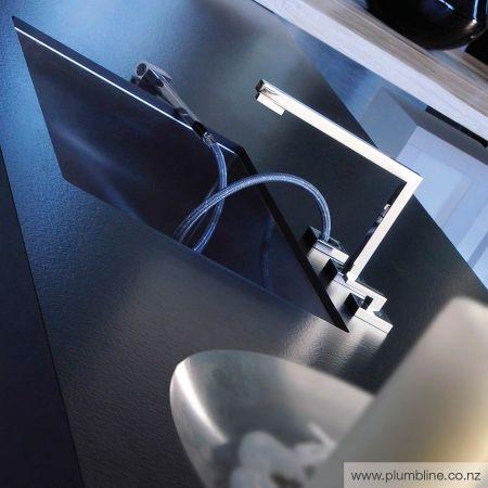 Su&Giu 3 Hole Kitchen Mixer With Rinse Spray - Kitchen Tapware - Kitchen