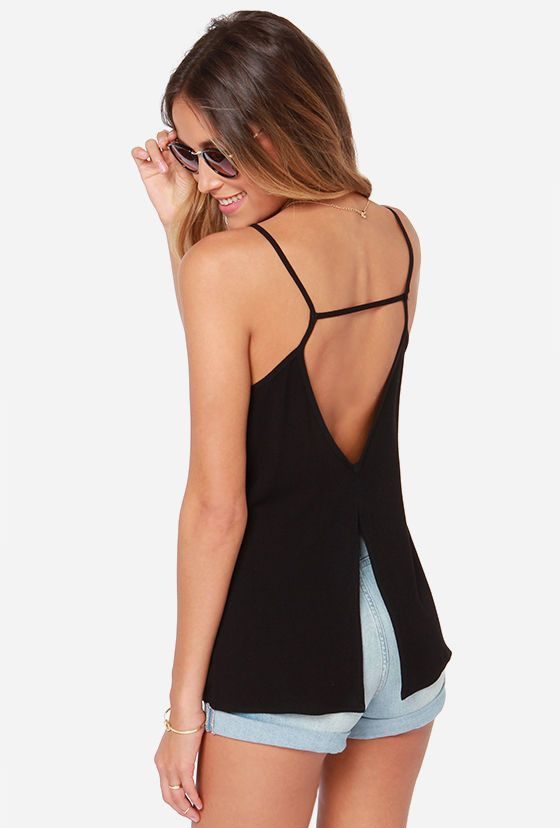 Shop Black Spaghetti Strap Backless Vest online. Sheinside offers Black Spaghetti Strap Backless Vest & more to fit your fashionable needs. Free Shipping Worldwide!
