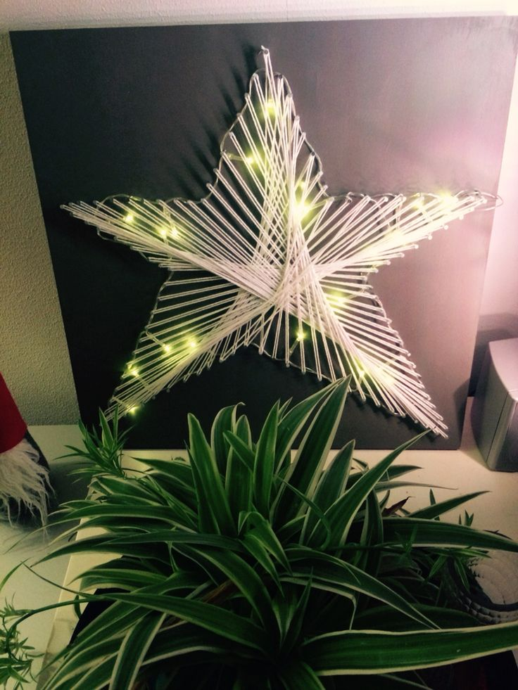 #draad #schilderij ster kerst