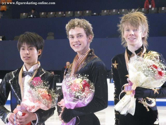 Tatsuki Machida(JAPAN),Adam Rippon(USA) and Kevin Renolds(CANADA)
