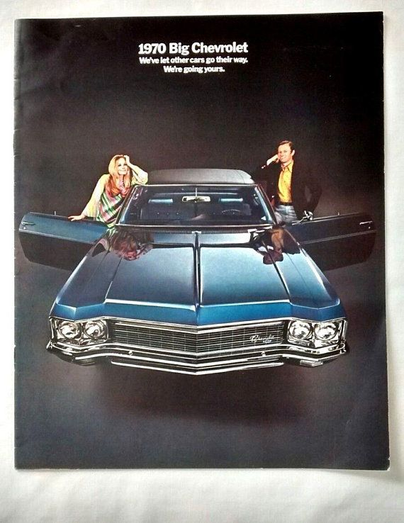 1970 Chevrolet Sales Advertising Brochure Caprice Impala Bel Air