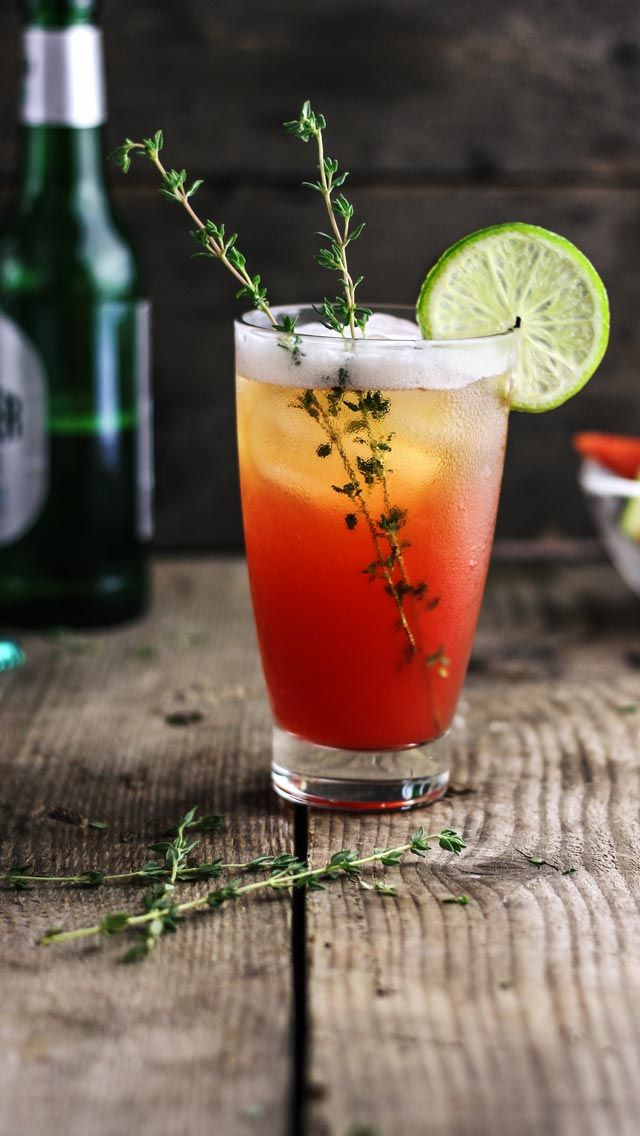 Virgin Watermelon-Beer Cocktail #cocktail #beer #drink