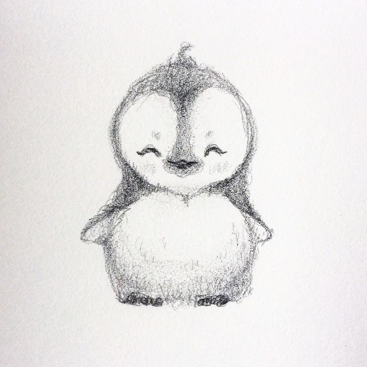 WIM Enjoyed and Liked on instagram from selenada8: Haha decided to draw a little cute penguin  #penguin #drawing #cute by selenada8 – Lici