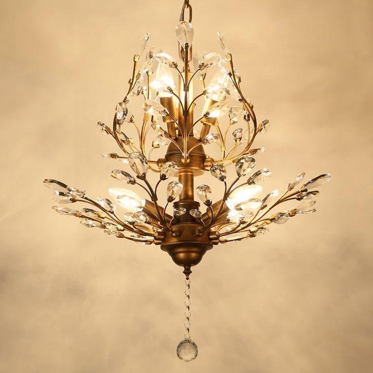 Modern Crystal Chandelier Lighting For Bedroom Kitchen Crystal Branches Style Ceiling Chandelier Lustre Avize Blc057