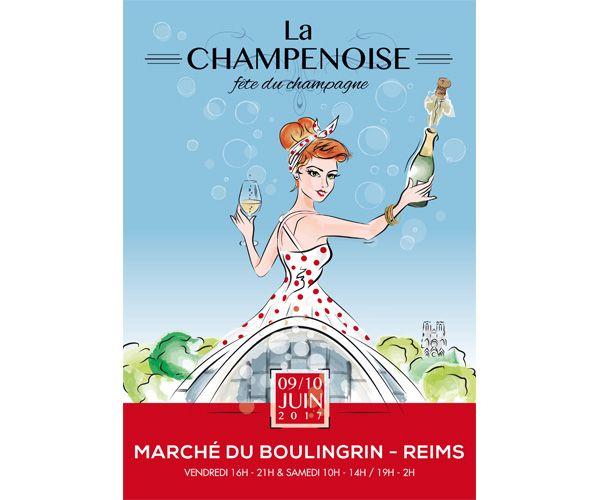 La Champenoise vous invite à coincer la bulle à Reims les 9 et 10 juin #champagne #vin #oenotourisme