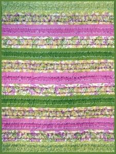 How to Make a Ruffled Quilt with a Serger tutorial