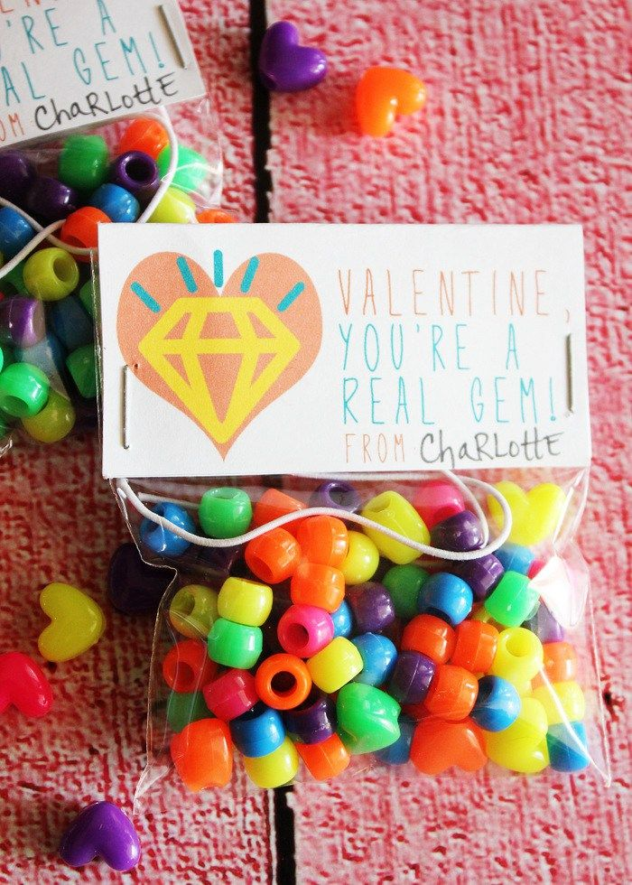 Gem Valentine Printable Valentines for kids, Valentines