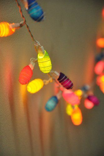 Amazon.com: 1 Set of 35 Natural Silk Cocoons Lights Set Lighting String Lamp Mixed Colors (Orange, Red, Yellow, White, Purple, Blue, Green) Home Decoration, Patio, Living Room, Yard & Garden Indoor and Outdoor of Birthday, Christmas, Wedding, New Year, Anniversary, Ceremony, Graduation Day, Valentine Party: Patio, Lawn & Garden Price:$19.88 + $5.00 shipping