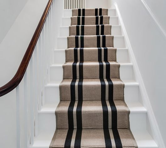Wooden Stairs With Painted Stripes Updating Interior: Hartley & Tissier Runner