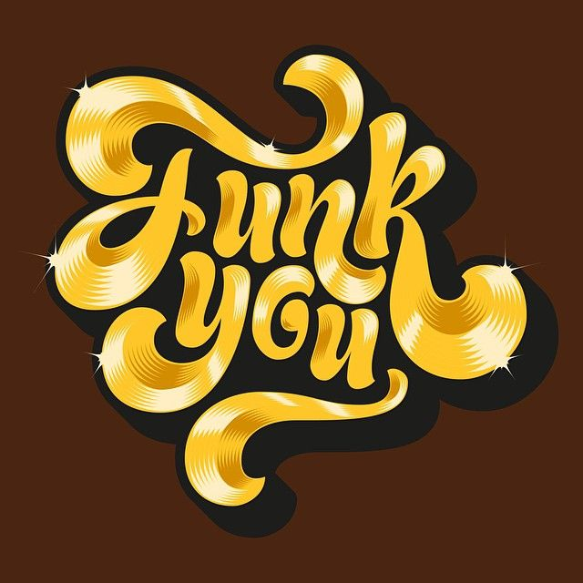 Adria Molins - Funk You 70's Hand Lettering