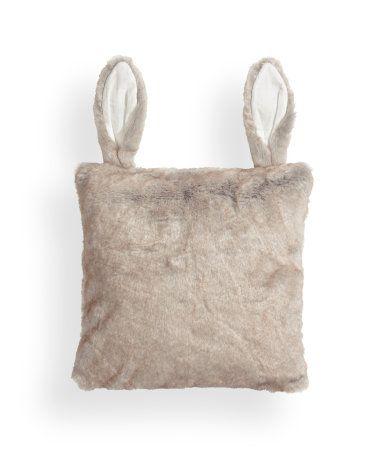 Bunny rabbit ears pillow - great gift basket idea for rabbit club auction!
