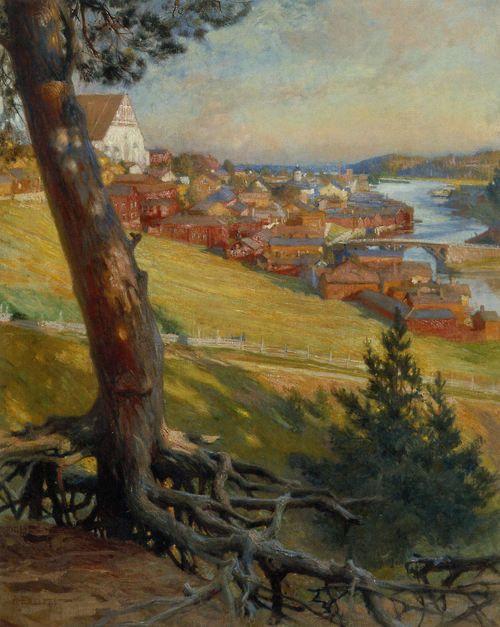 ALBERT EDELFELT  Porvoo Linnanmäeltä (1892)