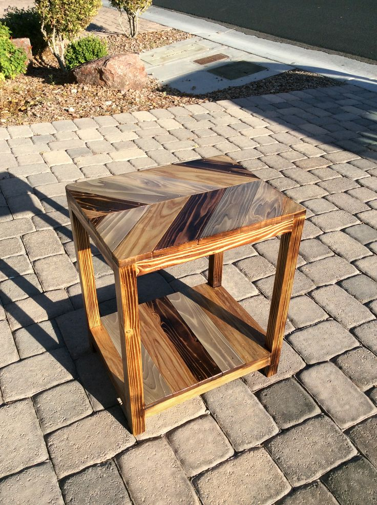 One Of The Two Side Tables All Sealed And Will Be Ready To Join Their Big  Brother(the Matching Coffee Table) By Monday.