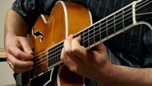 'Autumn Leaves' - Continuing my current series of jazz guitar studies, this time with one of the most popular jazz standards of all time. PDF and backing MP3.