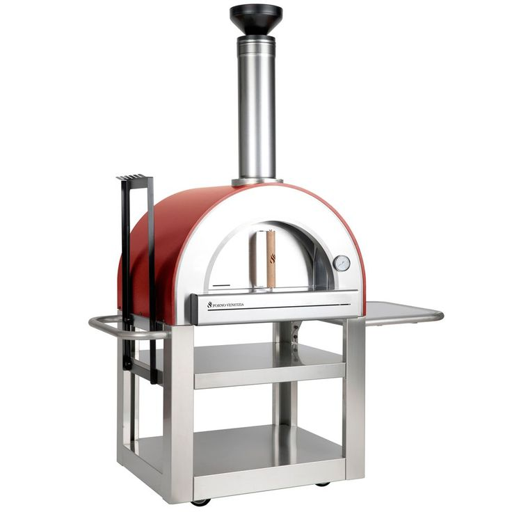 Pronto 500 In Red Landscaping Pizza Oven Outdoor Wood