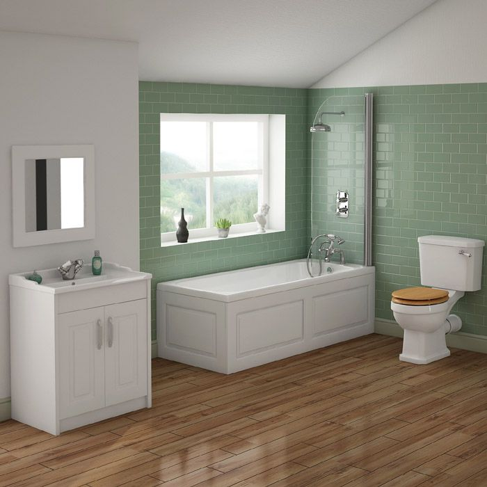 The Beautiful York Traditional Bathroom Suite Will Give Your Setting A Coordinated Timeless Look