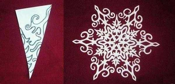 paper snowflake for christmas decorating