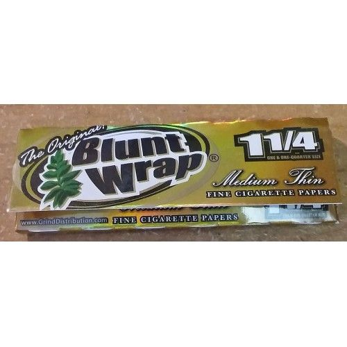 Blunt Wrap Brand 1 1/4 Medium Thin Cigarette Rolling Papers - Lot Of 6 Packs - $8.99
