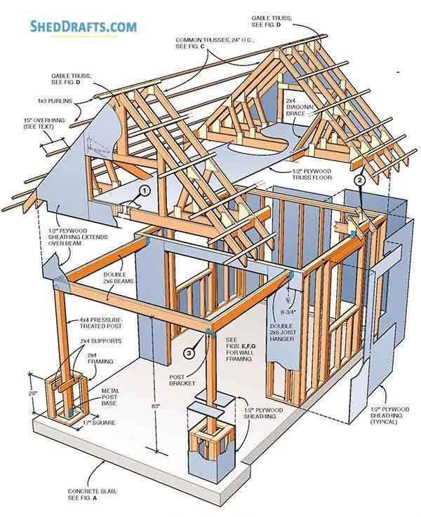 10 10 Storage Shed With Loft Plans Blueprints For Making An Outbuilding Shed With Loft Storage Shed Plans Shed Plans