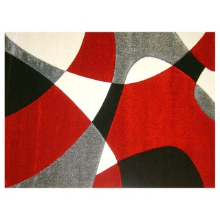 This Modern Deco Area Rug Features Contemporary Style In Rich Shades