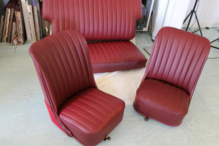 Vintage car upholstery